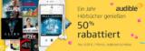 Audible Jahresabo (12x Hörbücher) für 4,95€/Monat