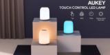 Aukey LT T8 Nachttischlampe (dimmbar, versch. Farben) für 11,99€