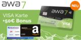 Kostenlose awa7®️ Kreditkarte + 50€ BestChoice-/ Amazon Gutschein + 50 Bäume gepflanzt