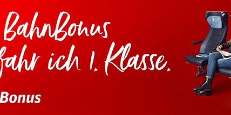 BahnBonus Willkommensgeschenk: Kostenloses 1. Klasse Upgrade