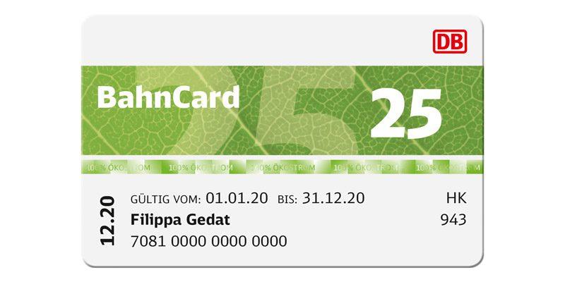 BahnCard 25 (2. Klasse) für 24,90€ pro Jahr [nur im Oktober]