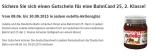 Kostenlose BahnCard 25 in Nutella Aktionsgläsern