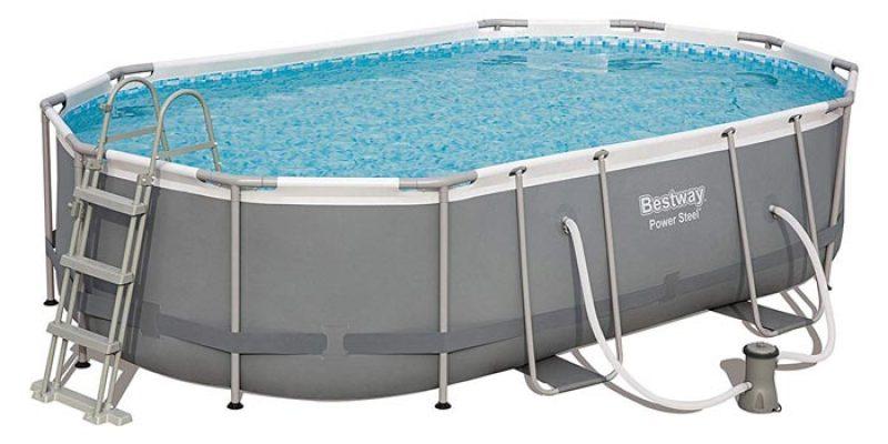 Bestway Frame Pool Power Steel (488 x 305 x 107 cm) mit Stahlramen für 348,11€