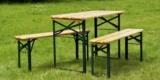 Bierzeltgarnitur (Esstisch und 2x Sitzbänke) aus Tannenholz für 57,94€