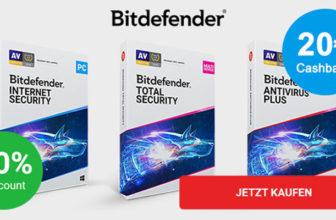 12 Monate Bitdefender Antivirus Plus für 19,99€ + 20€ Amazon Gutschein = effektiv kostenlos