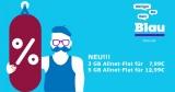 Blau Sim Only Tarife: z.B. Blau Allnet L 3 GB LTE für 7,99€/Monat