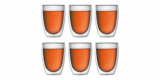 Bodum Pavina 6-teiliges Gläser-Set (0,35l, doppelwandig) für 37,64€