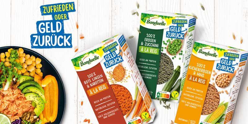 Bonduelle à la Reis Produkte gratis testen mit Bonduelle Cashback Aktion