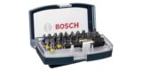 Bosch Schrauberbit-Set (32-teilig, Außensechskantschaft Größe 1/4-Zoll) für 9,15€