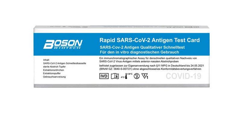 5er Pack Boson Schnelltest Set (Antigen Schnelltest) für 21,99€ + 4,95€ Versand bei LIDL