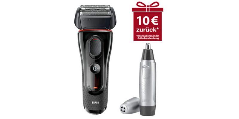 Braun Series 5-5030s Rasierer + Braun EN10 Nasenhaartimmer für 52,91€