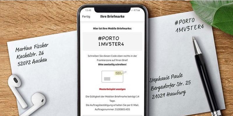 Briefmarken online kaufen per Post & DHL App (kein Drucker erforderlich)