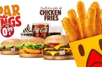 Burger King Gutscheine Januar, Februar & März 2021 – z.B. Whopper Jr. für 1,79€