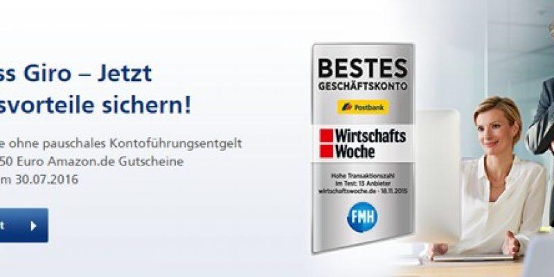 Postbank Business Giro Geschäftskonto eröffnen + Bis zu 200€ Prämie!