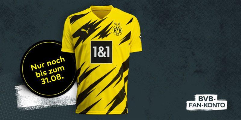 BVB Fan-Konto: Gratis BVB-Trikot (neue Saison 2020/21) für Eröffnung des kostenlosen comdirect Girokontos