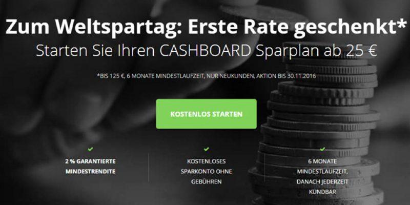 Cashboard Konto eröffnen + 125€ Startguthaben zum Weltspartag!