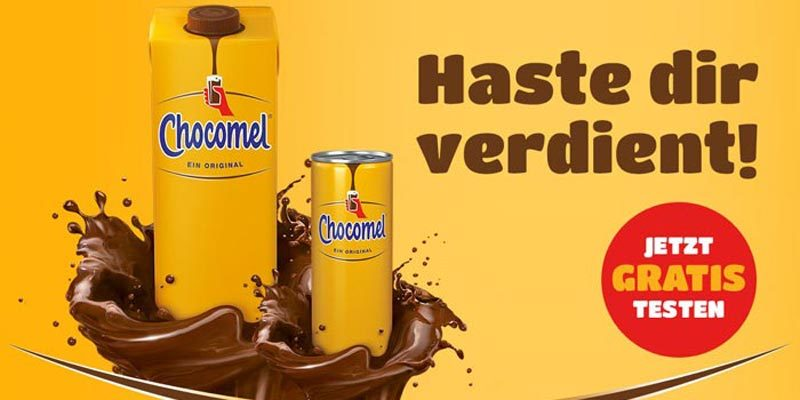 Chocomel Schokomilch gratis testen (1 Liter Tetrapack)