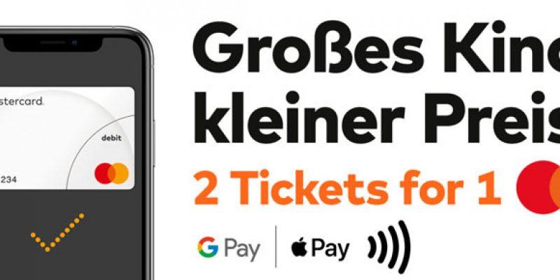 Cinemaxx 2 für 1 Tickets bei mobiler Zahlung mit Google Pay/Apple Pay & Mastercard