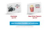 CineStar Family&Friends Kinogutschein für 5€ & Maxi-Popcorn für 5€