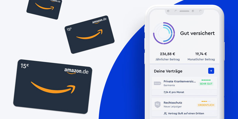 Clark Versicherungsmakler + unbegrenzt viele 15€ Amazon Gutscheine
