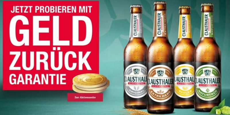 Clausthaler Alkoholfrei gratis testen: 4 Sorten á 6 Flaschen (insgesamt 24 Flaschen)