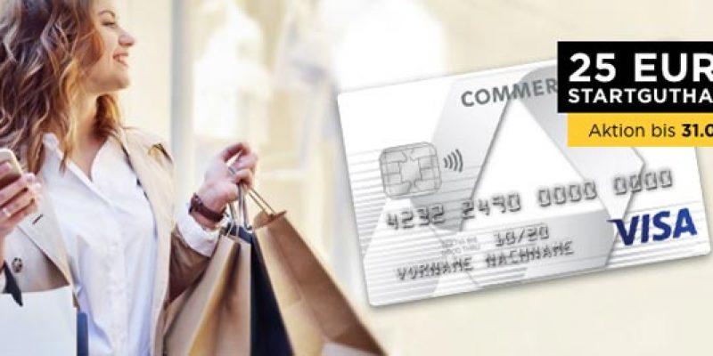 Commerzbank Prepaid Kreditkarte + 25€ Startguthaben
