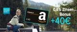 Consorsbank Tagesgeldkonto eröffnen + 40€ Amazon Gutschein geschenkt