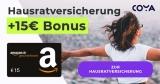 Coya Hausratversicherung ab 21,48€/Jahr + 15€ Amazon Gutschein