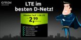 Crash Tarife Smart Flat: 1 GB LTE + 100 Freiminuten für 2,99€ (Telekom Netz)