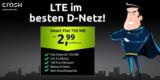 Crash Tarife Smart Flat: 750 MB LTE + 100 Freiminuten für 2,99€ (Telekom Netz)