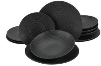 CreaTable Lava Stone Tafelservice aus Steinzeug (12-teilig) für 33,94€