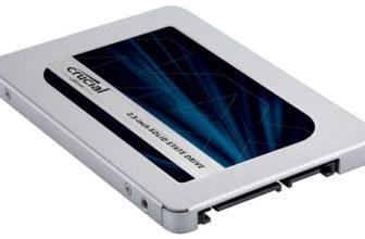 Crucial MX500 SSD Festplatte mit 1 TB Speicherplatz für 88€
