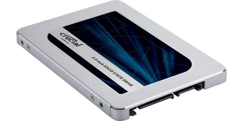 Crucial MX500 SSD Festplatte mit 1 TB Speicherplatz für 89,90€