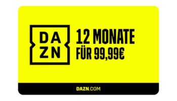DAZN Jahresabo: Gutschein für 1 Jahr DAZN für 99,99€