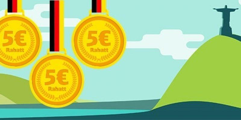 Deutsche Bahn Rio-Rabatt: 5€ Gutschein für jede deutsche Goldmedaille!