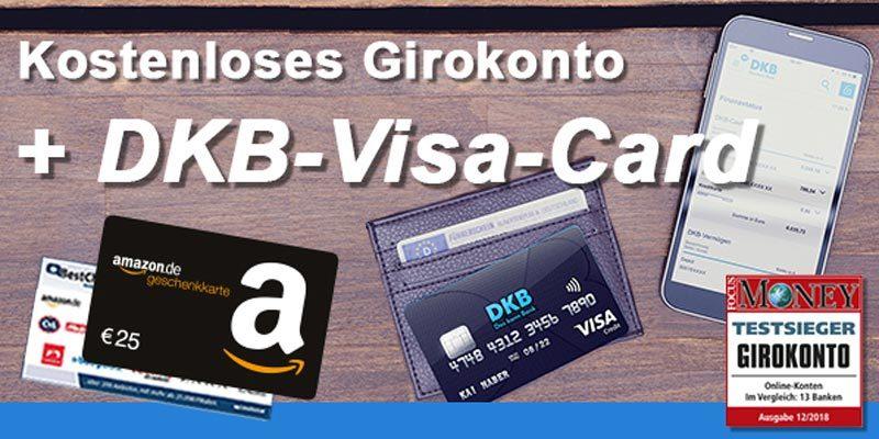 Kostenloses DKB Girokonto + gratis Kreditkarte + 25€ BestChoice- oder Amazon Gutschein