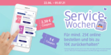 dm Servicewochen: Online bestellen & bis zu 10€ Gutschein erhalten