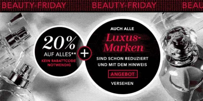 Douglas Beauty Friday: 20% Rabatt auf fast alles