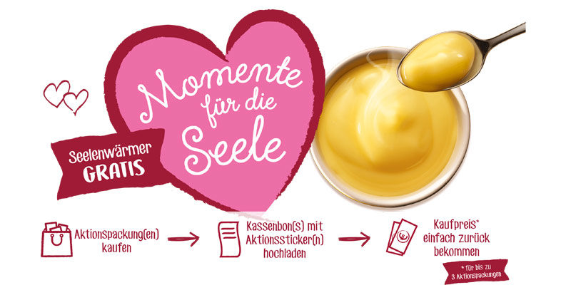 Dr. Oetker Seelenwärmer Cashback Aktion: Cremepudding für effektiv 0€ testen