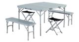 Easy Camp Dijon Campingtisch inkl. Sitzbänken & Stühlen für 89,53€