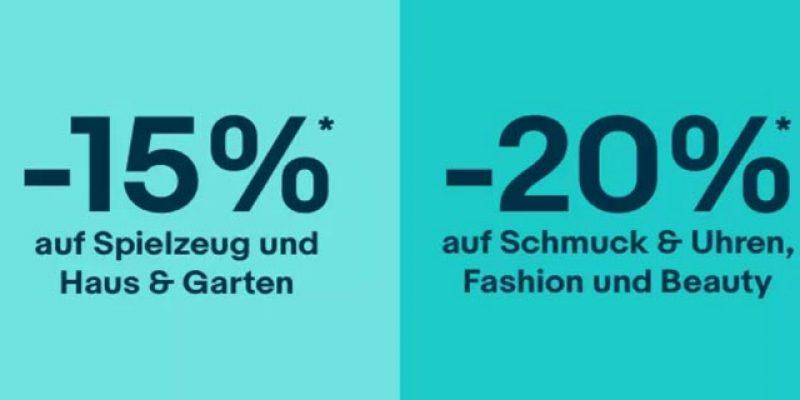 eBay Black Friday Countdown: 15% oder 20% Gutschein auf ausgewählte Artikel