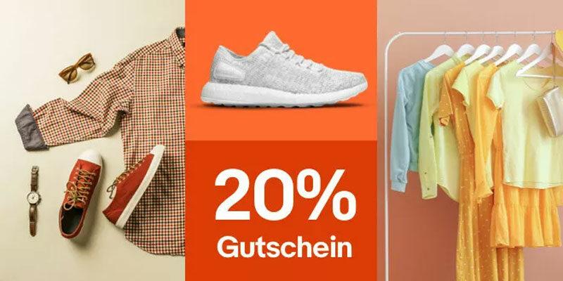 20% eBay Fashion Gutschein auf Mode & Sport (Kleidung für Männer, Frauen & Kinder)