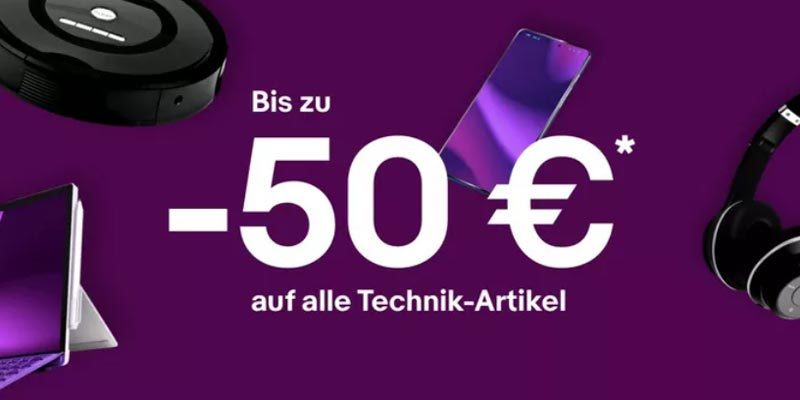 eBay Black Friday: 10€, 20€ oder 50€ Gutschein ab 150€, 250€ bzw. 550€ MBW für Elektronik & Haushaltsgeräte