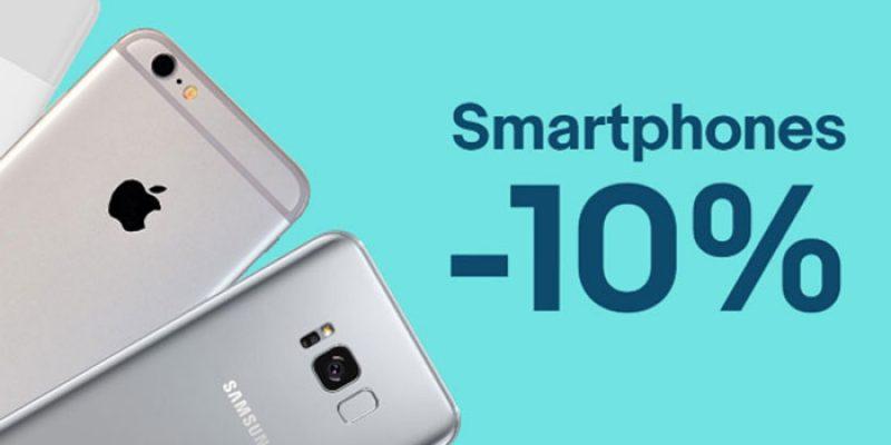 10% Gutschein auf Smartphones bei eBay: Galaxy S8, Xiaomi Pocophone F1, etc.
