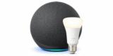 Amazon Echo 4. Generation (smarter Lautsprecher) + Philips Hue White LED-Lampe für 79,99€