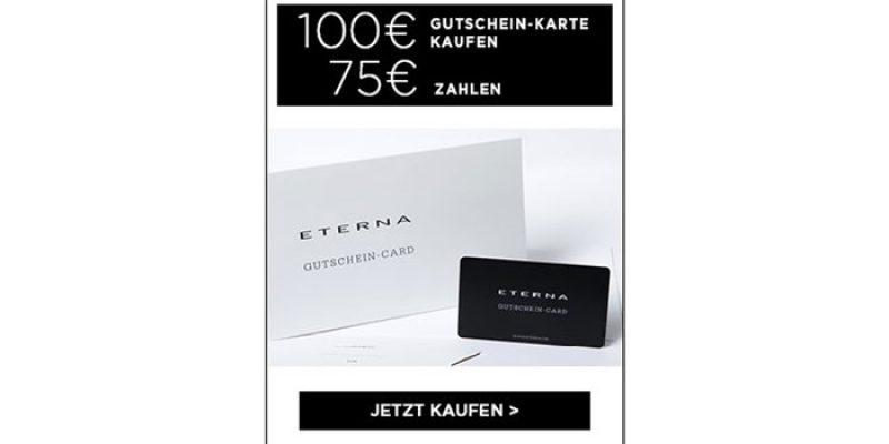 100€ Eterna Wertgutschein für 75,95€ (3 Jahre gültig)