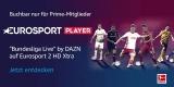 Eurosport Player Jahresabo (z.B. Fußball Bundesliga) für 0,01€ für Prime Kunden