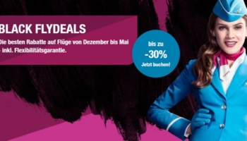 Eurowings Black Flydeals: bis zu 30% Rabatt auf Flüge innerhalb Europas