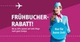 Eurowings Frühbucher Rabatt – 20% Rabatt auf viele Flüge weltweit
