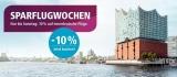 Eurowings Sparflugwochen: 10% Rabatt auf innerdeutsche Flüge